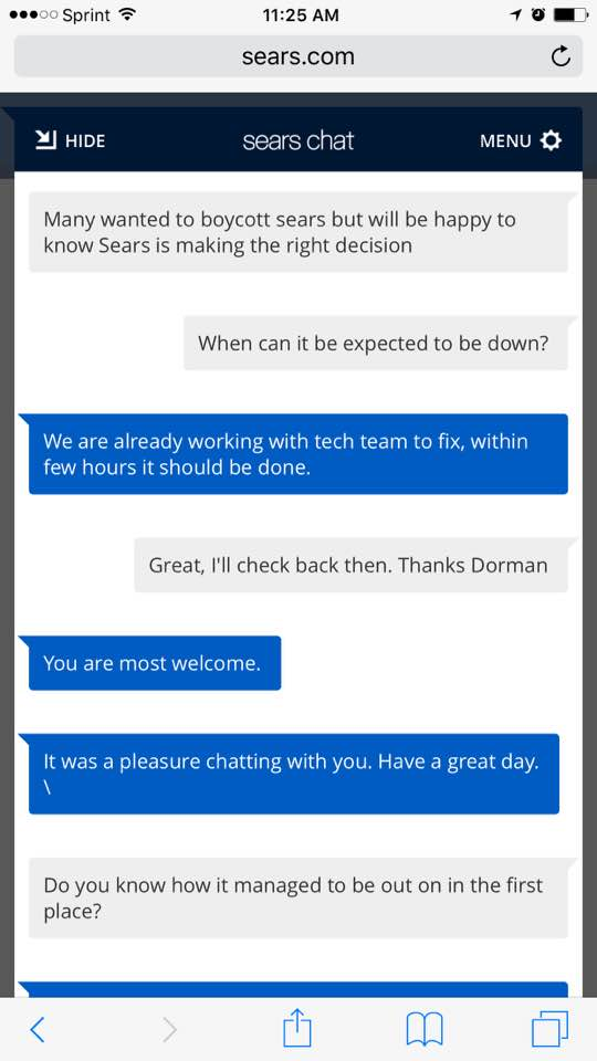 Sear chat